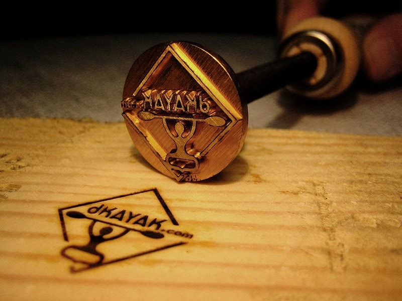 inches Branding iron woodburning stamp wood leather from ...