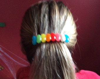 Barrette with real candy jelly beans