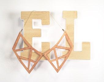 WOODEN CUTOUT COLLAR minimal geometric