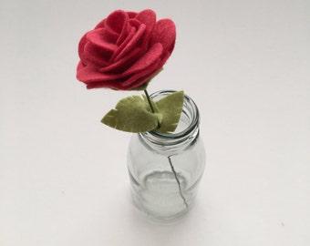 Felt Roses - Red Roses - Valentine's Flowers - Felt Flowers