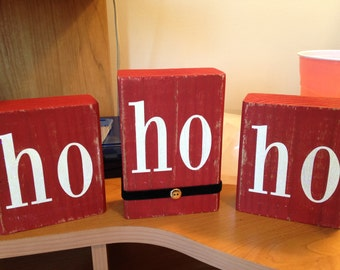Ho Ho Ho Holiday Blocks