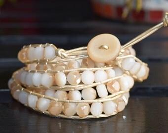 Five Wrap Beaded Bracelet