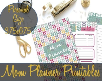 Mom Planner, Mom Organizer, Mom Calendar, To Do, Mom Planning Printables Personal Size 3.75x6.75, Webster's, Filofax - INSTANT DOWNLOAD