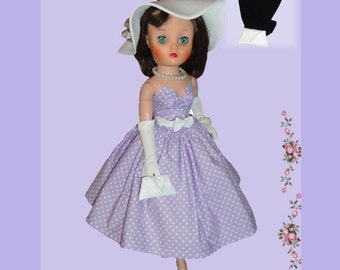 Doll Clothes PDF Pattern for Vintage 19'' Uneeda Dollikin  Doll by NVME 19UD-2
