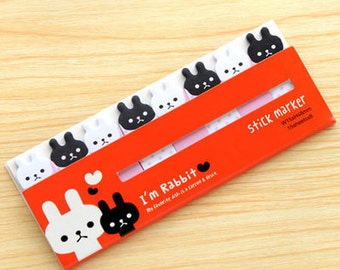 Rabbit Sticky Notes - Cute Kawaii Post-It Notes / Stationery / Stationary / School Supplies / Sticky Notes Tabs / Cute Sticky Notes