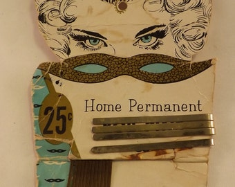 Vintage Home Permanent Booby Pins Hair Pins 1950's