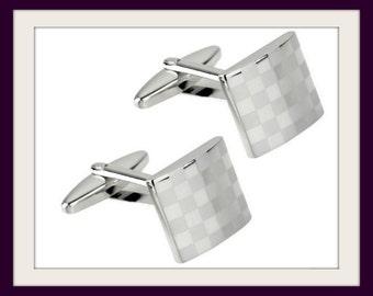Mens Cufflinks Cuff Links Mens Gift Mens Cuff Gift for men Cufflinks Silver Cufflinks Mens Jewellery Stainless Steel Cufflinks Mens Cufflink