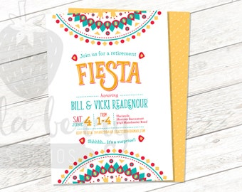 Retirement Fiesta Printable Invitation - Retirement Party - Mexican Celebration