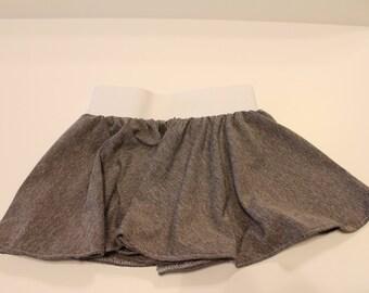 Grey knit skirt, circle skirt, twirly skirt, toddler skirt