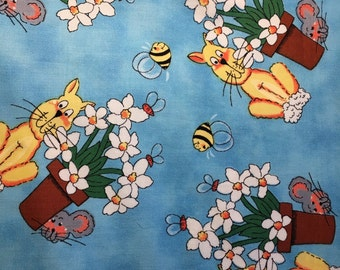 1 Yard Kat's Meow by Sue Kruger for Northcott Fabrics