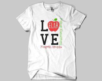 Customized Teacher Apple Shirt