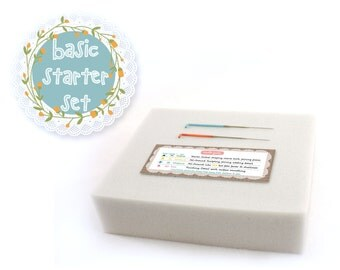 Basic Needle Felting Starter Set - Color-Coded Needles & Foam // Optional Needle Storage Case // Needle Felt Supplies for Beginners