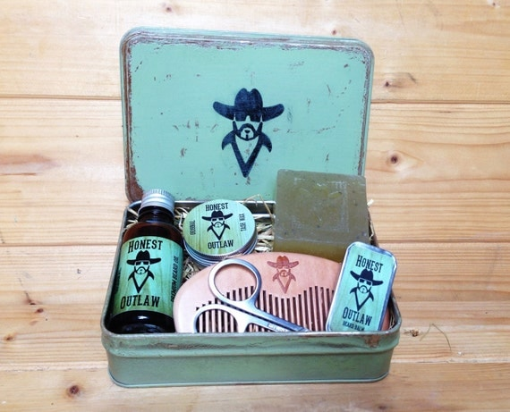 honest outlaw premium beard grooming kit by honestoutlaw on etsy. Black Bedroom Furniture Sets. Home Design Ideas