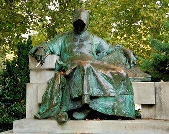Anonymus Statue - Anonymus szobra - Ligeti Miklós - Vajdahunyad Castle - Vajdahunyad vára - Budapest - Hungary - Photo - Print
