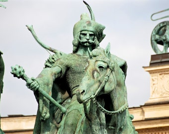 Seven chieftains of the Magyars - Millennium Monument - Millenniumi emlékmű - Heroes' Square - Hősök tere - Budapest - Hungary - Print