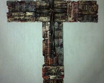 Cross Rustic Wall Decor RA4434