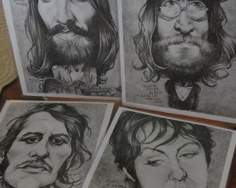 Beatles art prints 4-pack