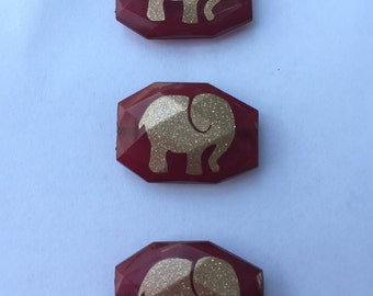 Bangle Beads Gold Elephants