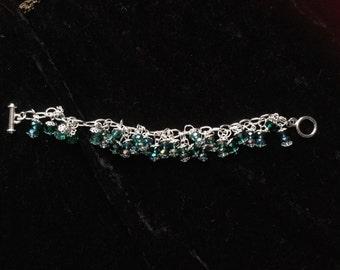 Glass crystal beaded bracelet