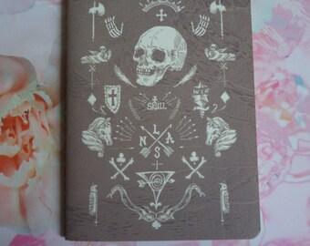 Gothic / Skull / Mystic Boho Plain Notebook