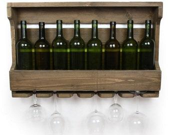 Wine racks, Wine Rack Shelf Wall Bar, Distressed Wine Rack, Housewarming Gift, Rustic Wine Rack, Wedding Gift, Anniversary, Wine, Modern