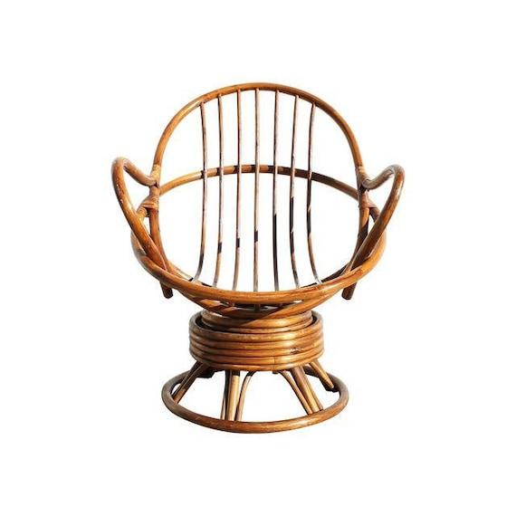 Rattan Swivel Chair, 1960s, Rattan Chair, Rattan Rocking Chair ...