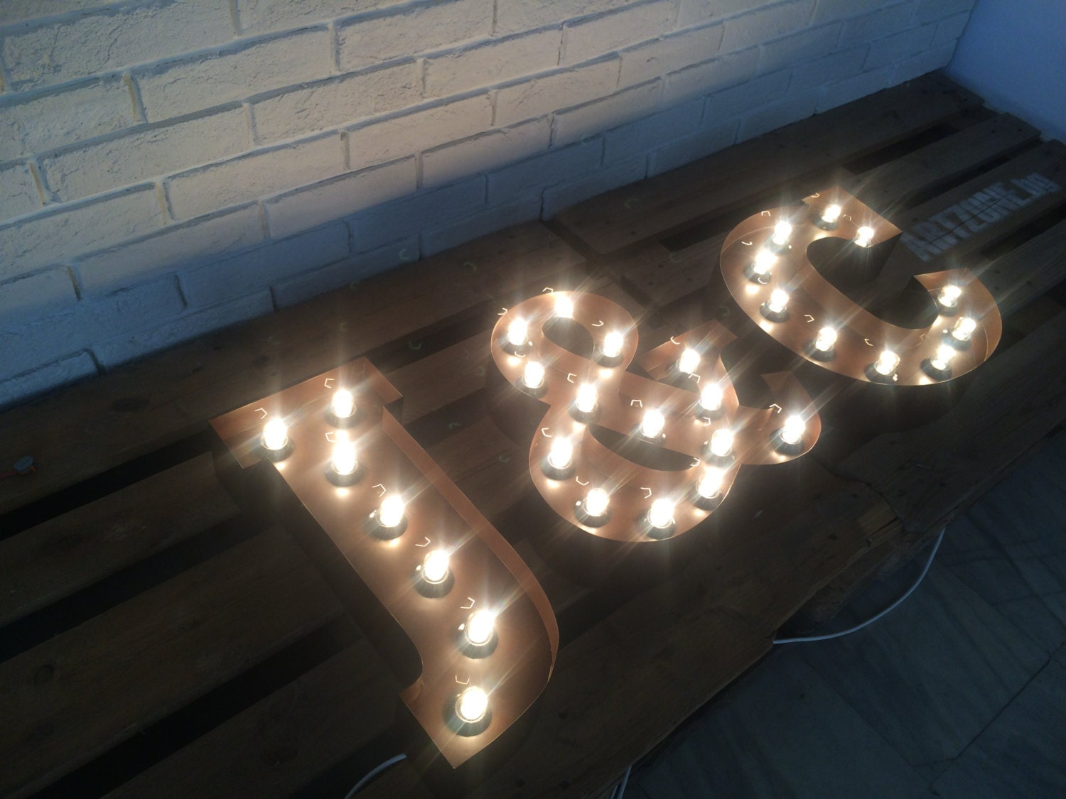 Light Up Signs Custom: 16 Light Up MarqueE Any Letter Or Sign Custom Made