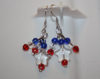 Single Star Patriotic Earrings