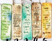 handmade quote bookmarks