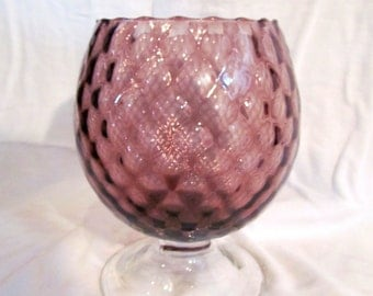 Purple Cranberry Coloured Glass Candy Dish