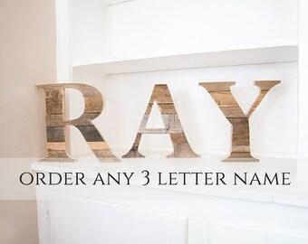 Baby Name Sign, Woodland Nursery, Wood Letters, Wooden Wall Letter, Nursery Wall Letters, Baby Crib Name, Name Sign, Wood Monogram