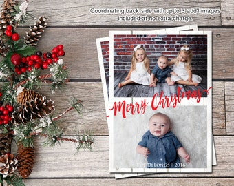 CHRISTMAS PHOTO CARD   Holiday Photo Card   Family Photo Card