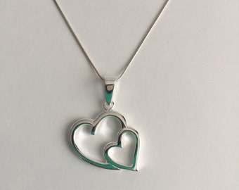 925 Solid Sterling Silver Heart Pendant