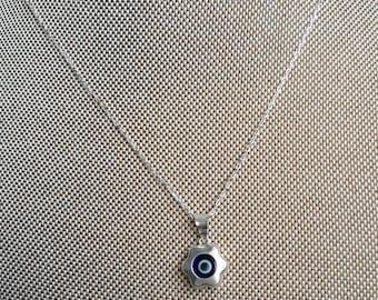 925 Sterling Silver Evil eye Pendant