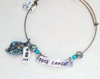 F#ck Cancer expandable bangle