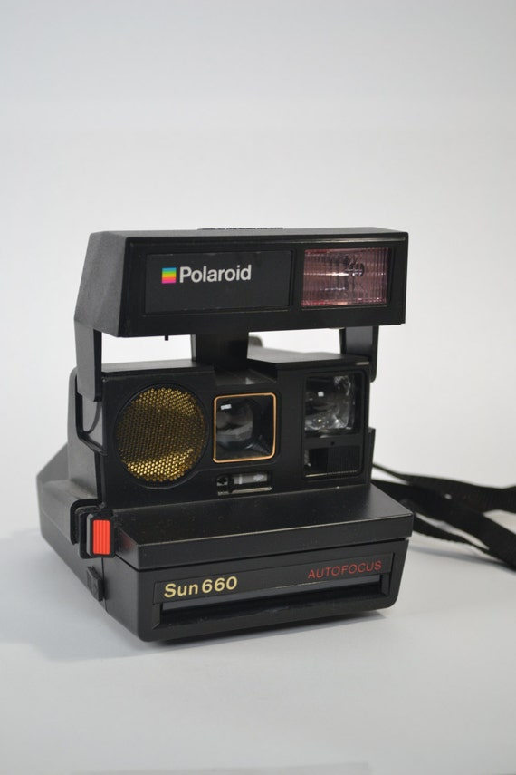 vintage 660 polaroid camera. Black Bedroom Furniture Sets. Home Design Ideas