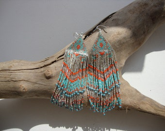 boho chic, ethnic buckles, buckles gipsy, loops Bohemian earrings