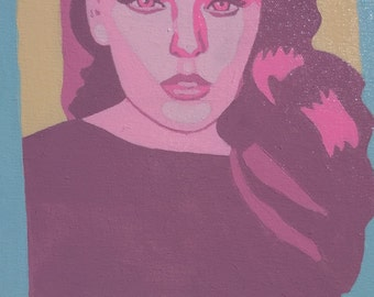 Tess Holiday Hot Pink Portrait Painting