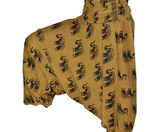 Brown Harem/ Baggy Pants Women Trousers Boho Yoga Casual /sarouel femme/ Pantalon large Indien femme