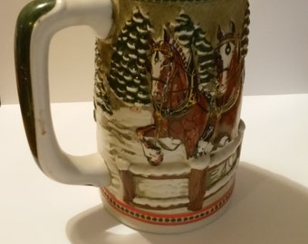 Budweiser Clydesdales Covered Bridge Limited Edition Stein - No Box