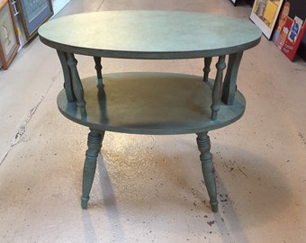 End Table, Side Table, Oval End Table, Occasional Table, Chalk Painted