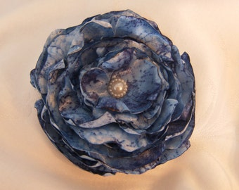Fabric Flower, Fabric Flower Accessory, Fabric Flower Brooch, Fabric Flower Embellishment