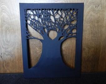 Silhouette Tree Painting