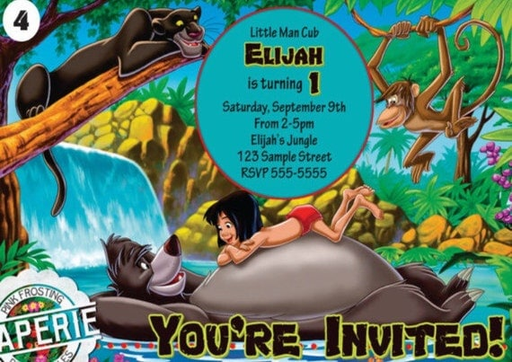 The Jungle Book 1994 Movie Invitation