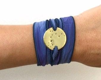 Pisces Constellation Bracelet, Silk Wrap Bracelet, Constellation Jewelry, Zodiac Bracelet, Wrap Bracelet, Birthday Gift
