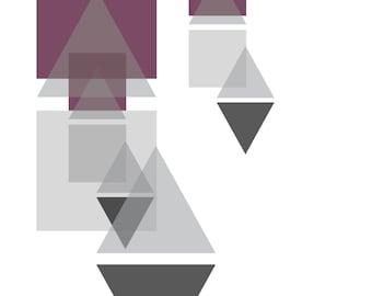 Geometric Purple Print