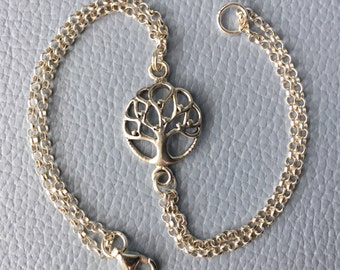 Sterling Silver Bracelet  - Tree of Life   (Code:0950)