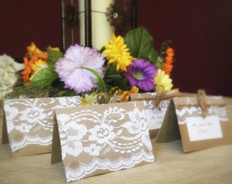 50 Lace Wedding Place Cards