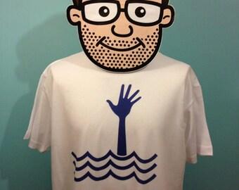 Stevie Smith T-Shirt (Not Waving but Drowning) - White Shirt