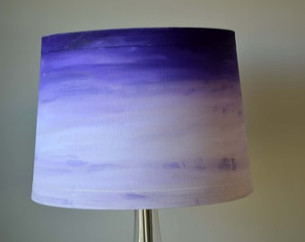 Hand Stained Lampshade in Bright Colors using Unicorn Spit